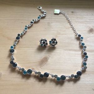 Anne Klein necklace w/ matching clip on earrings